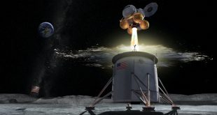 Artist illustration of NASA's Human Landing System for the Artemis program.