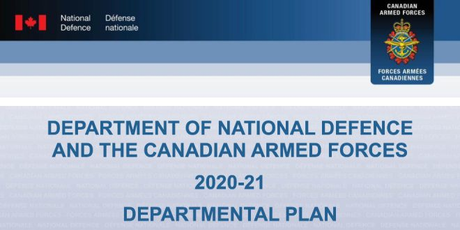 Department of National Defence budget for 2020-21