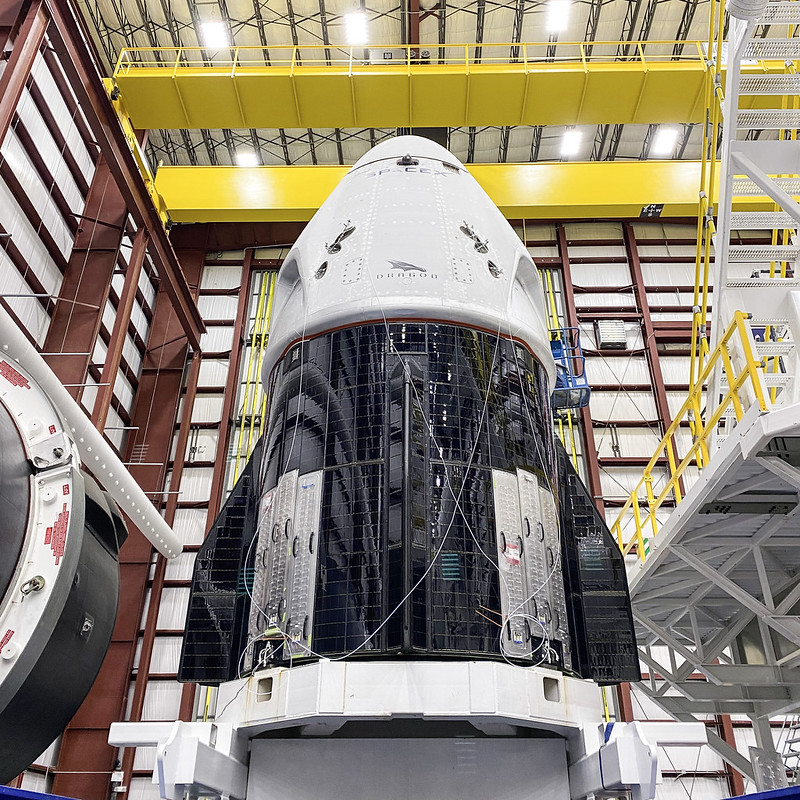 SpaceX Crew Dragon spacecraft for the Crew Demo 2 mission