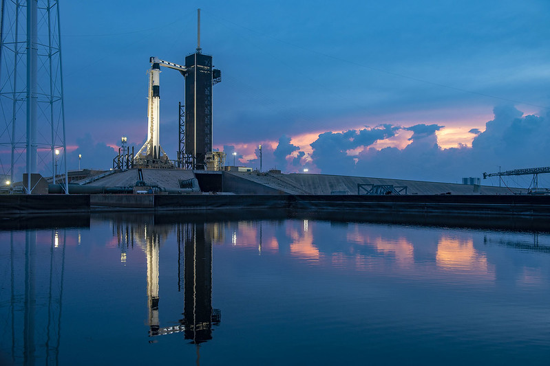 SpaceX Crew Demo 2 on the launch pad. New Space company SpaceX has disrupted the traditional space launch ecosystem