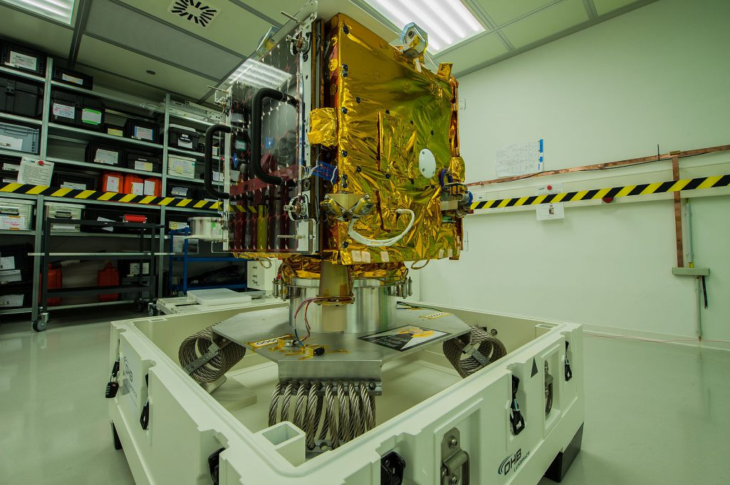 Microsatellite ESAIL before shipping