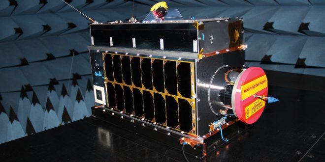 GHGSat-C1 Iris satellite built by the Space Flight Lab