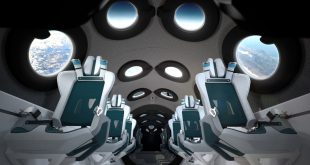 Virgin Galactic spaceship cabin interior