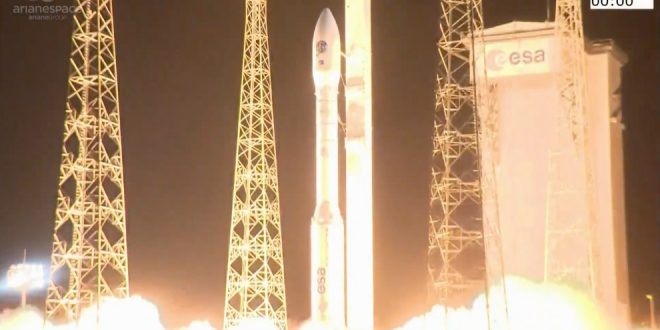 Arianespace Vega 16 mission launch on September 2, 2020.