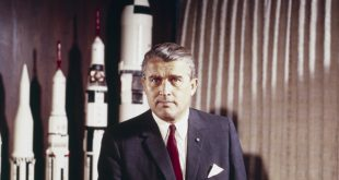 Dr. Wernher von Braun, director of Marshall Space Flight Center