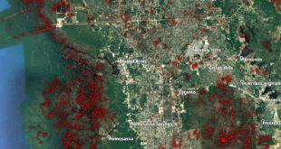 Radarsat-2 Amplitude Based Change Detection Map Shows Flooding From Hurricane Michael