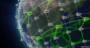 DARPA's Blackjack program artist illustration of global high-speed network in low Earth orbit (LEO)