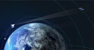 Artis illustration of NorthStar Space Situational Awareness satellites monitoring space