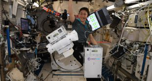 "Astronaut Christina Koch puts Orbit Fab's ""Gas Station in Space "" equipment through its paces on the International Space Station."