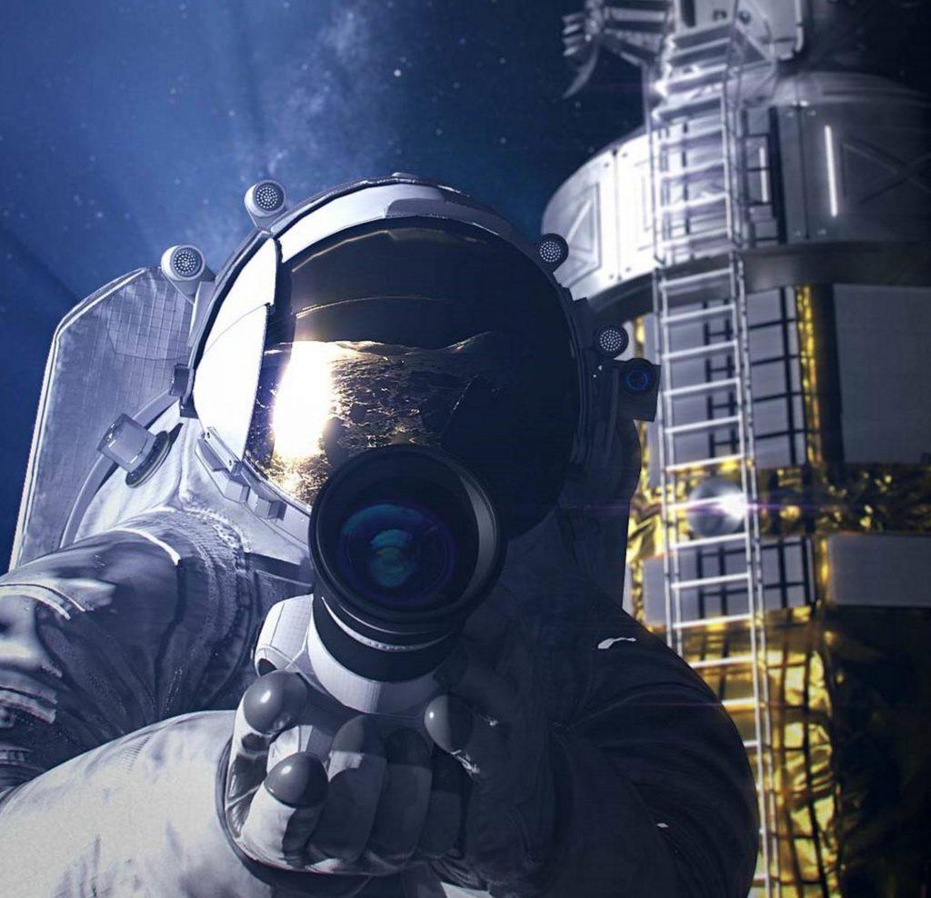 Artist rendering of a NASA astronaut on the Moon.