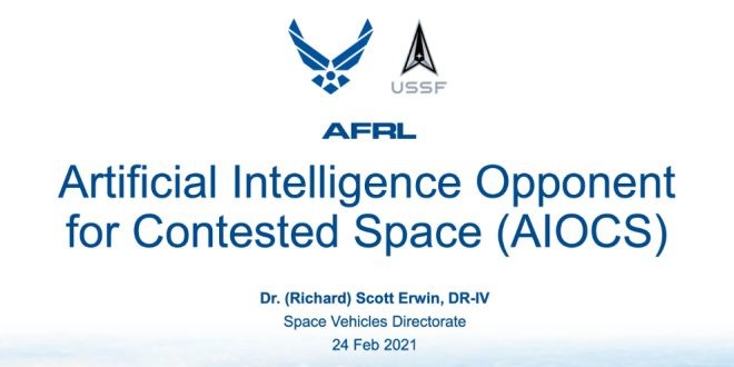 Advances in artificial intelligence in contested space