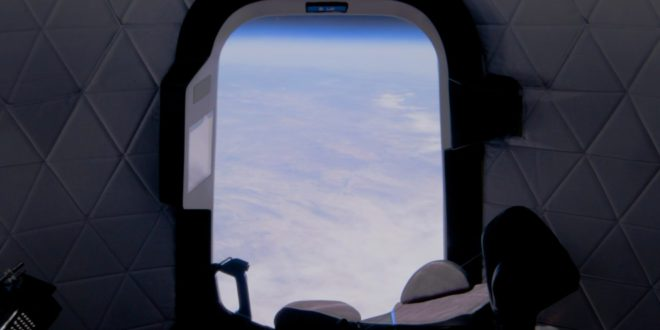 Blue Origin New Shepard capsule window view