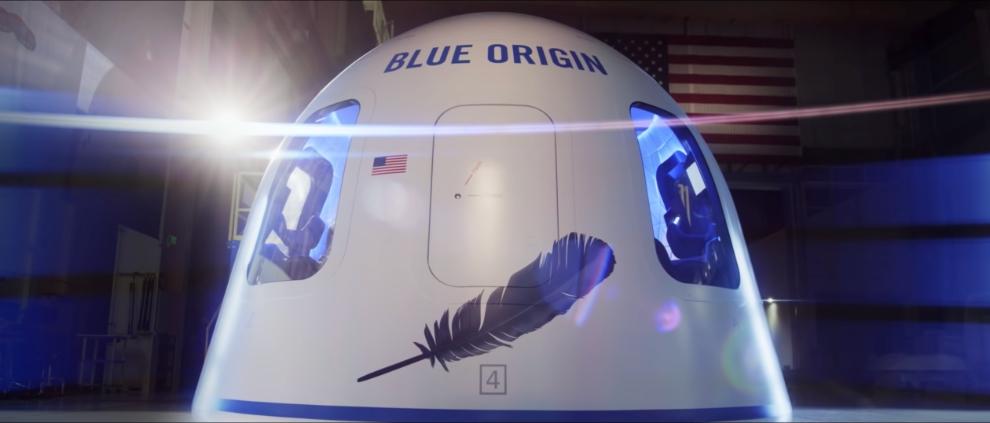 New Shepard crew capsule. Credit: Blue Origin.