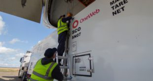 Satellites arrive at Ignatyevo Airport, Amur Oblast, Russia for the 7th OneWeb launch scheduled for May 27, 2021
