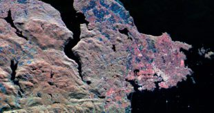 Synthetic Aperture Radar (SAR) image of Victoria, Canada