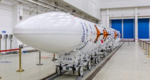 The Chinese i-Space rocket SQX-1 Y1 in the Jiuquan Satellite Launch Center in northwest China on July 23, 2019.