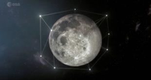 Artis illustration of lunar communications and navigation satellites