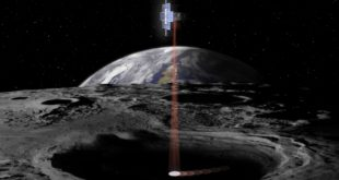 Lunar Flashlight is a very small satellite being developed and managed by NASA's Jet Propulsion Laboratory that will use near-infrared lasers and an onboard spectrometer to map ice in permanently shadowed regions near the Moon's south pole.