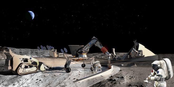 NASA artist illustration of lunar ISRU