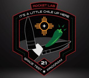"""""""It's a Little Chile Up Here"""" mission patch. Credit: Rocket Lab."""