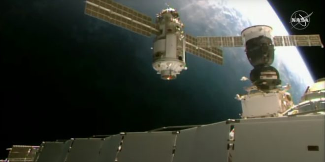 Was the International Space Station crew in danger during the unplanned firing of Nauka thrusters?