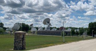 Telesat Alan Park ground station facility near Hannover, Ontario