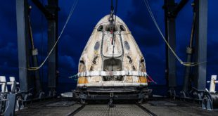 The SpaceX crew Dragon with the Inspiration4 mission crew successfully lands in the Atlantic ocean off the coast of Florida on Saturday, September 18, 2021 after a three day mission