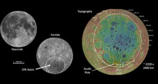 The Lunar South Pole – Aitken Basin is one of the largest impact features in the Solar System. Oldest and largest on the Moon