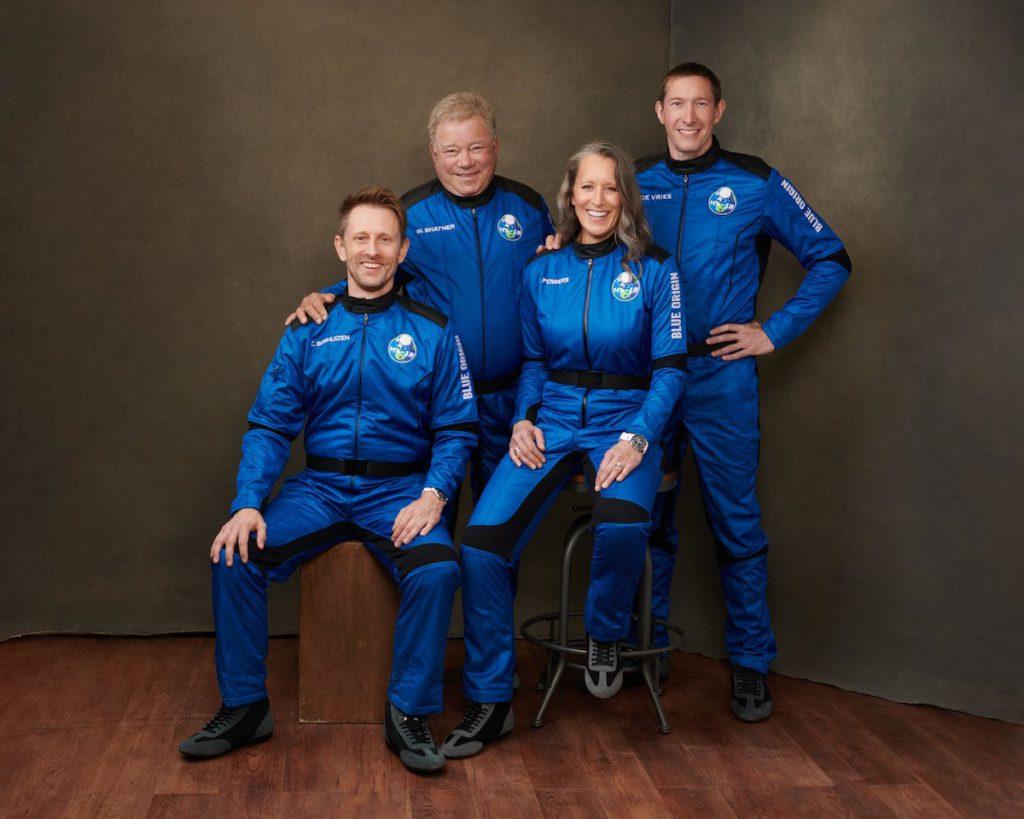 William Shatner (back left), Chris Boshuizen (bottom left),  Audrey Powers, and Glen de Vries.